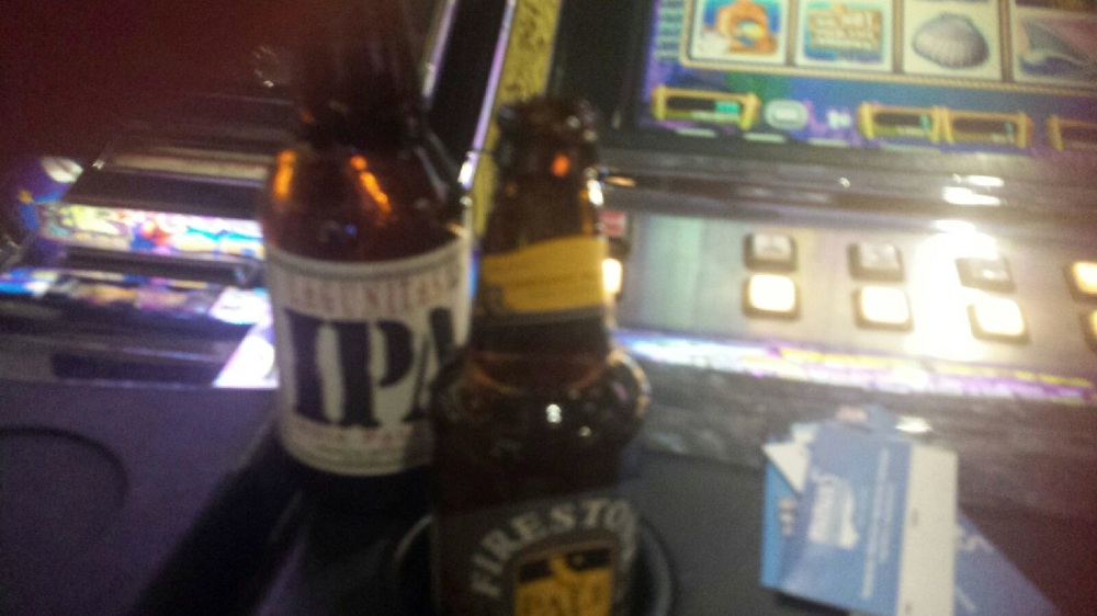 The beer is better, the lighting is not. Ah, casinos!