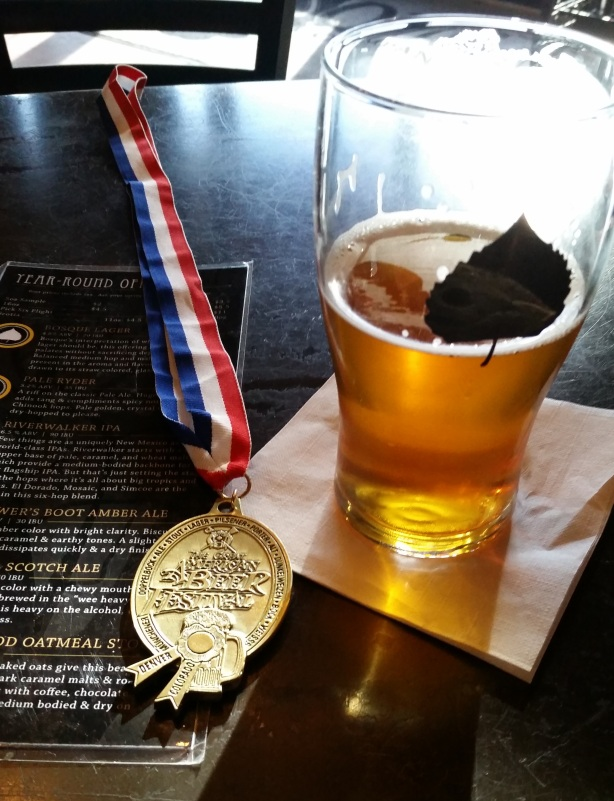 Shiny, golden goodness. The medal is pretty swanky, too.