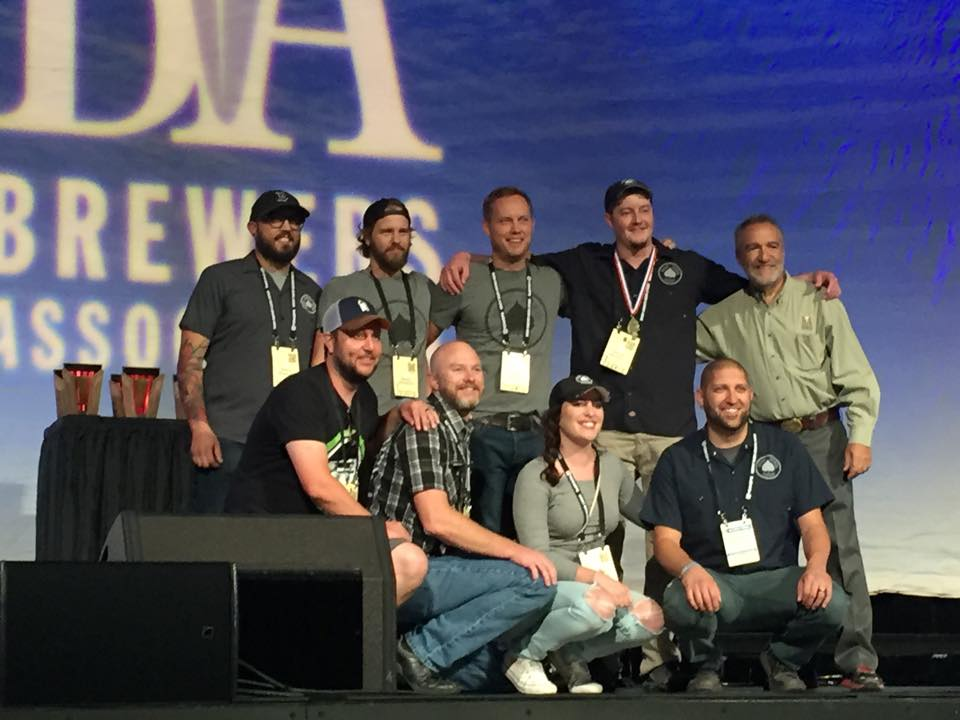 The Bosque team was all smiles after earning their first gold medal for Acequia IPA. (All photos courtesy of the NM Brewers Guild)