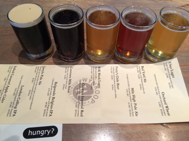 Lunch at Wynkoop. Don't panic, we had food, too.