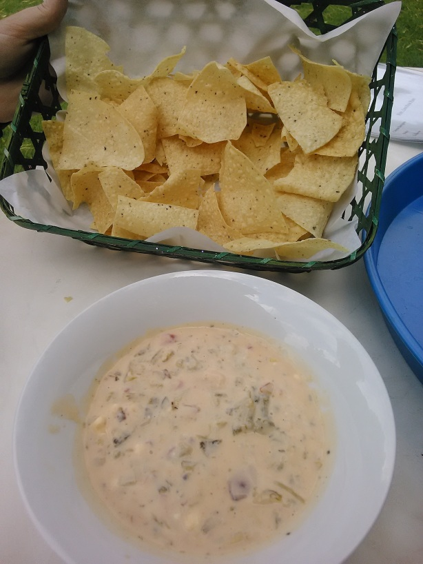 Just some queso and chips for a late lunch.