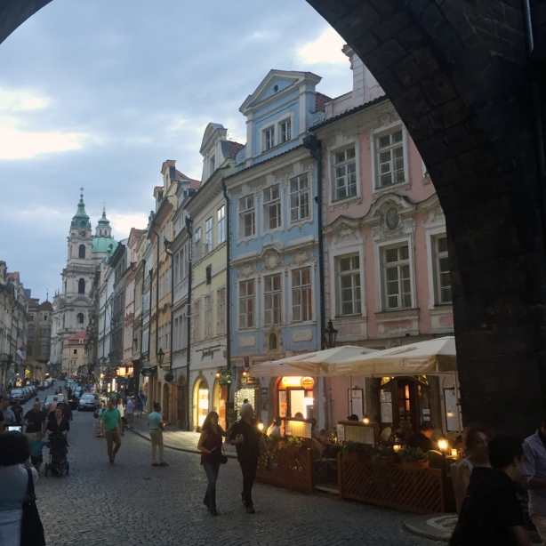 Prague (Praha) streets near the Charles Bridge.