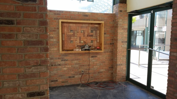 Ror and the others were quite proud of the brick work they did, so we promised them we would include the photo of it.