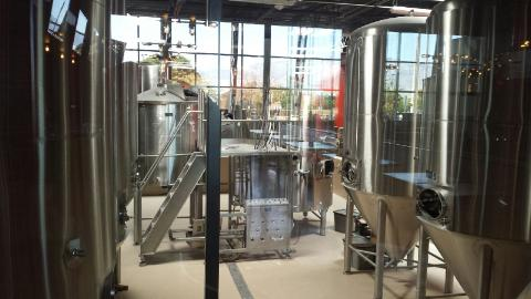 AmyO got this photo of the brewing equipment in the old Stumbling Steer space.