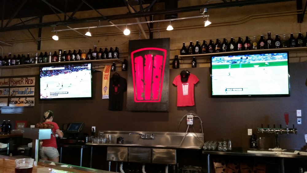 All right, just imagine that Red Door sign in the middle completely redone in neon for their new taproom.
