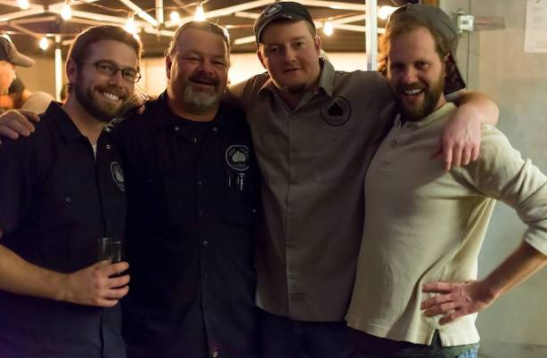 Brewer John Bullard, second from right, and his staff need more room to brew. That could be coming in 2016.