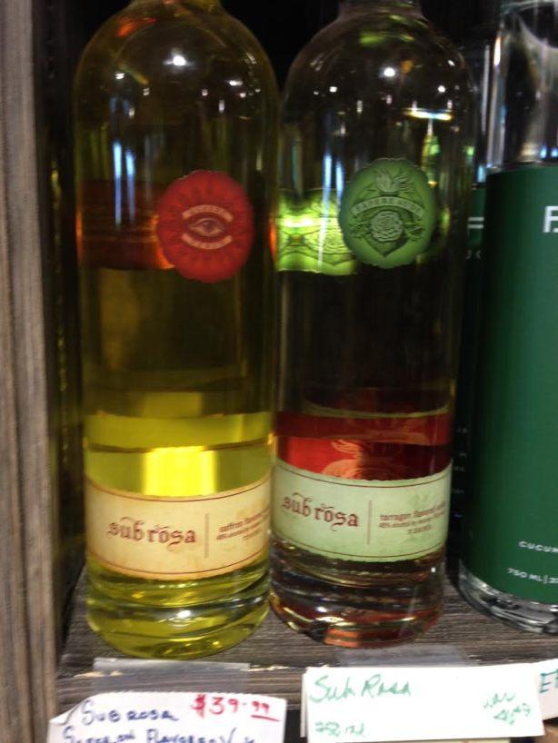Sub Rosa Distillery Bottles
