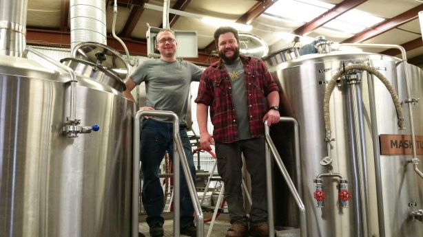Zach Guilmette, right, has returned to Canteen as head brewer, where he will again work along side the ubiquitous Doug Cochran.