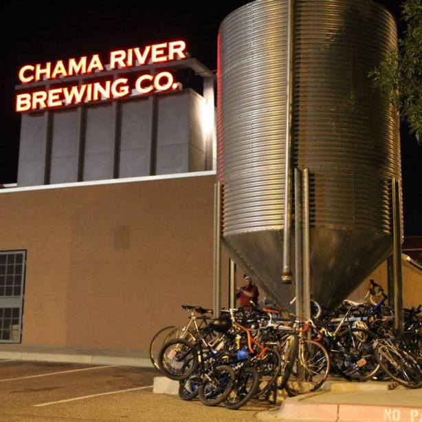 If they can stuff that many bicycles under the grain silo, surely they can find more room inside for barrels. (Photo courtesy of Chama River)