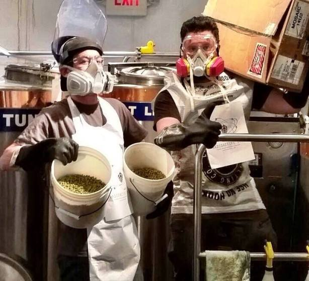 Brewing at Chama can be fun, leaning towards ludicrous, at times. (Photo courtesy of Chama River)