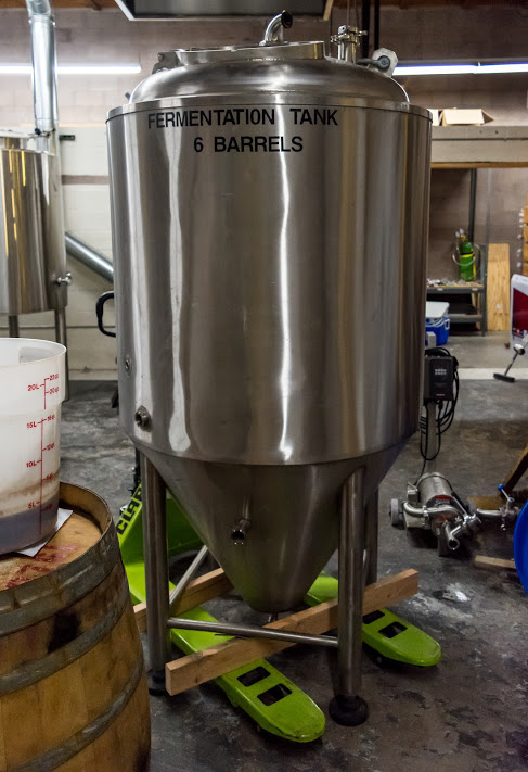 One of the new fermenters is almost ready to go.