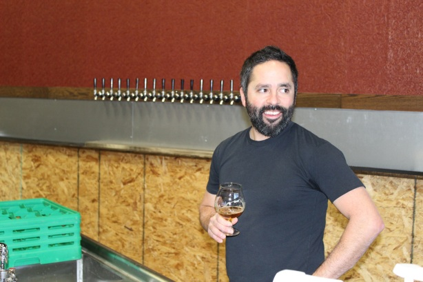 General manager Milo Carrejo hangs out behind the bar, which will feature 80 taps.