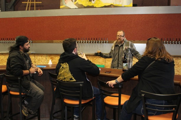Duel's Todd Yocham regales the Crew with tales of the new taproom.