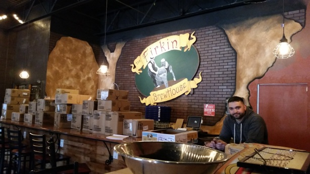 Brewer Aaron Walters hopes to be serving his creations to people sooner than later at Firkin.