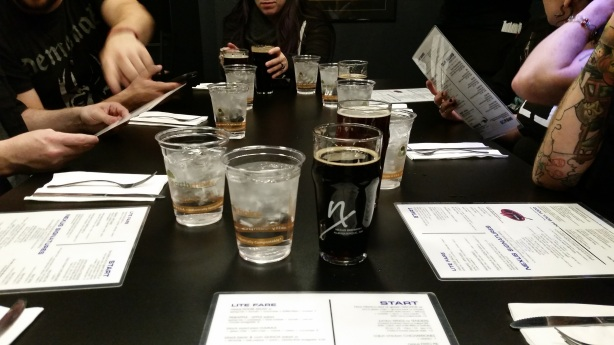 The Salted Caramel Stout there in the center of the table was a massive hit at the end of 2015.