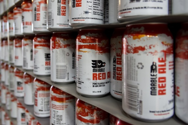 Say hello to the new cans of red that will soon be rolling off the line at Marble.