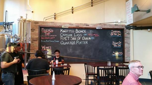The beer menu chalkboard will have many more listed in the near future.