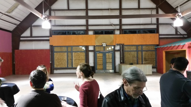 Looking to the south end of the building, where the taproom will eventually be set up.