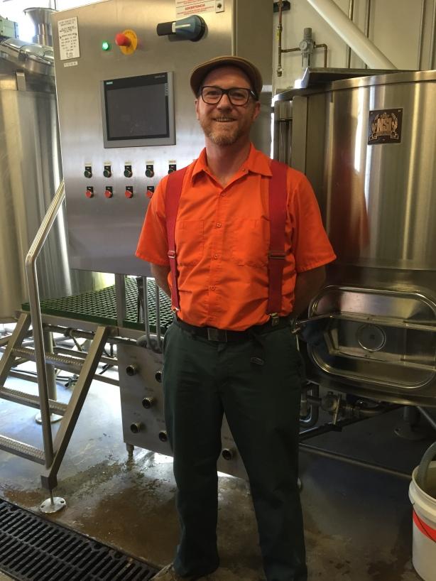Ponderosa's new brewer Robert Haggerty rocks the orange shirt like no one else, not even Peyton Manning.