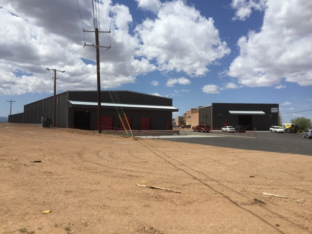 The massive new packaging warehouse, left, was completed alongside the existing brewery in 2016.