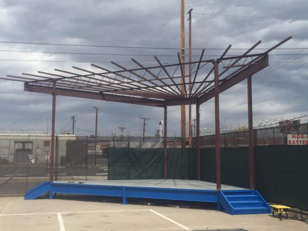 The outdoor stage will be a popular music spot on days with nicer weather. (Photo courtesy of Rio Bravo)