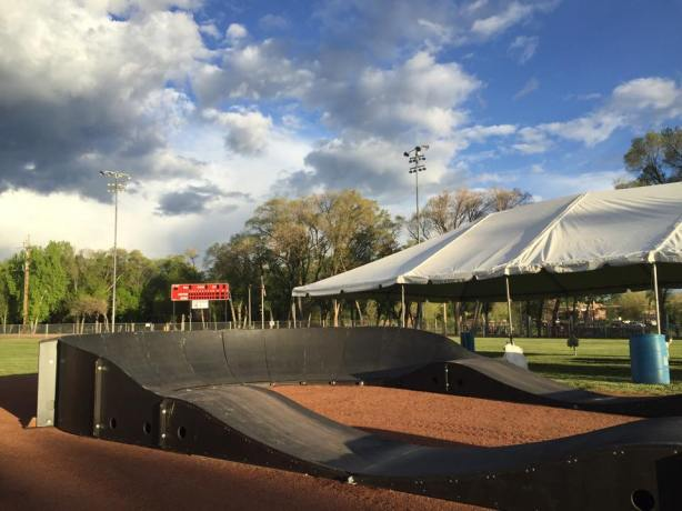 The setup is underway for the main event for this weekend! (Photo courtesy of Outside Bike & Brew Festival)