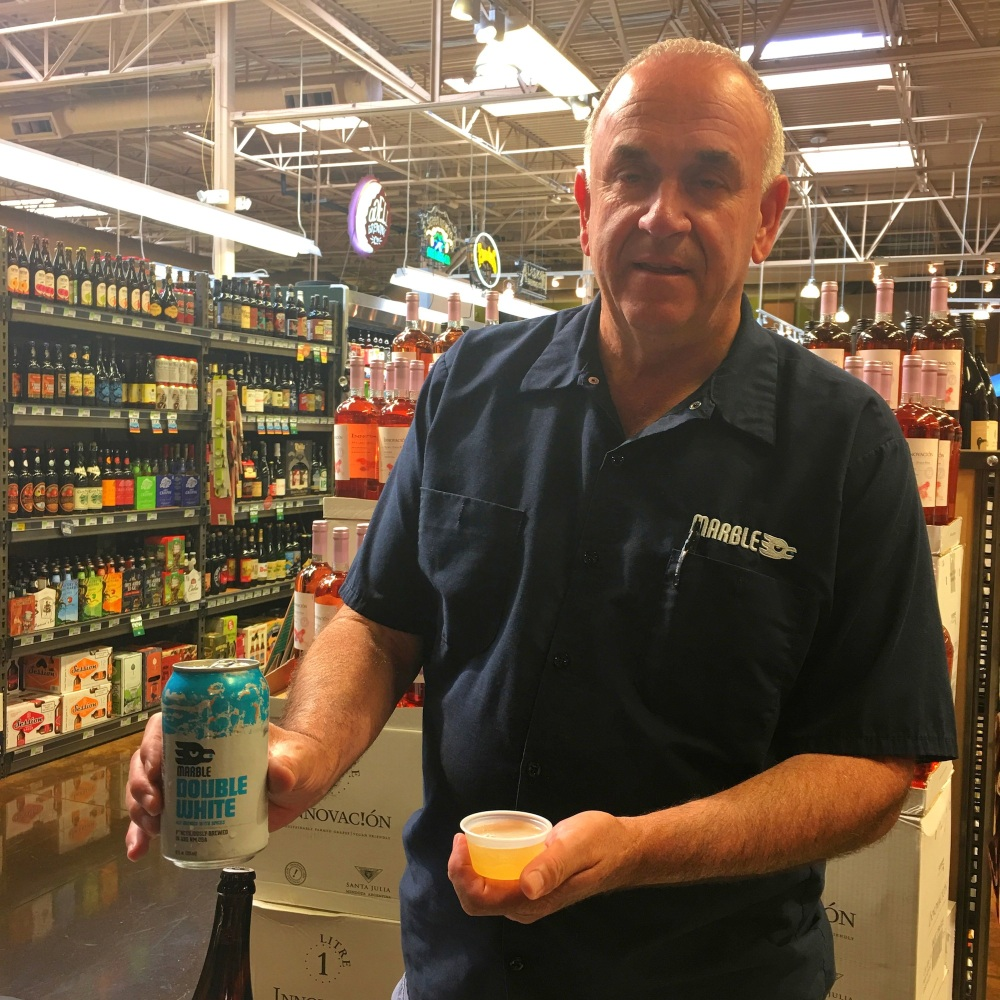 Marble's Tony Calder has been running the show at all of their off-site tasting/tapping events.