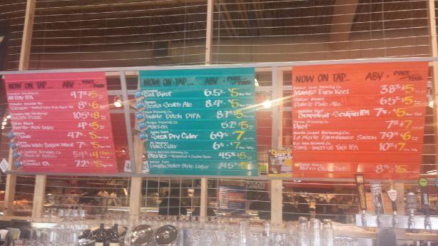 The beer menus were impressive.