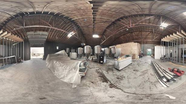 Construction continues at Dialogue Brewing near downtown. (Photo courtesy of Dialogue Brewing)