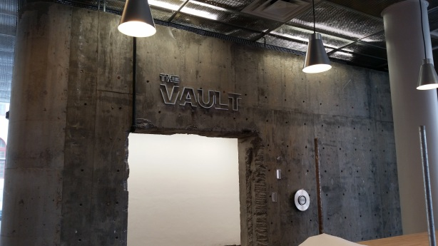 The space that used to be an actual vault will be the video game room.