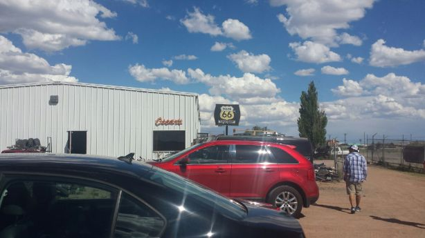 Route 66 Junkyard Brewery in Grants is actually within a junkyard.