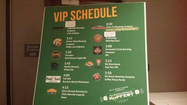 The VIP beer list was quite impressive.