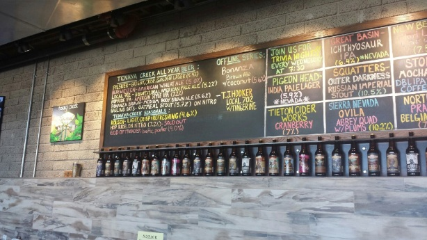 The beer menu at the new Tenaya Creek location in Las Vegas is worth checking out.