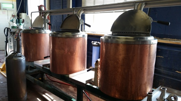 This old home-brewing equipment is now for sale. Interested? Contact Santa Fe Dining. (We're serious, do it!)