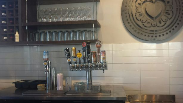 The taps at Amore's downtown location are all local.