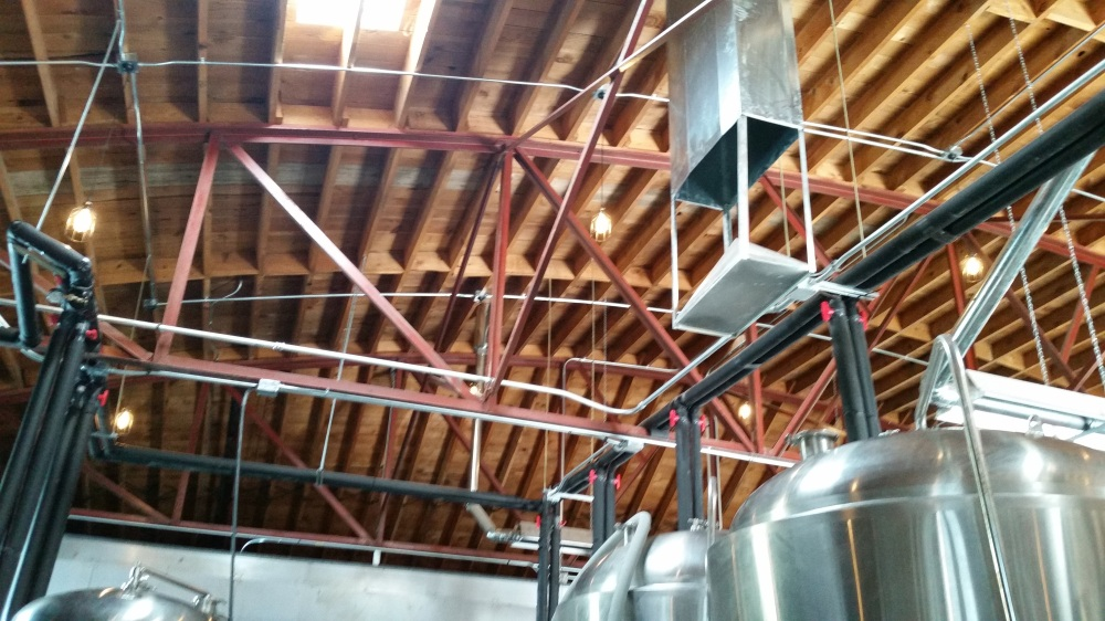 High ceilings are a brewer's friend.