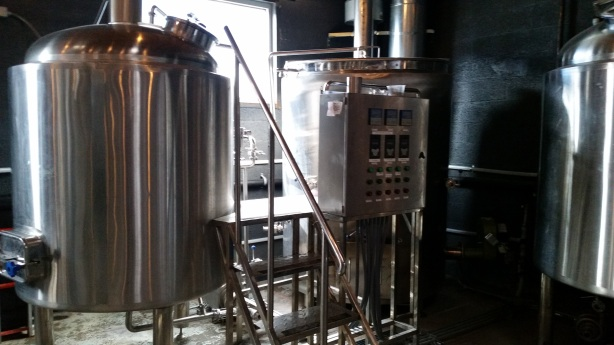 Dialogue's new 7-barrel brewhouse.
