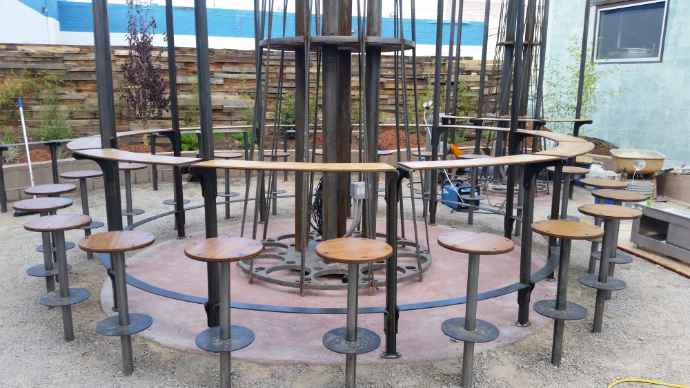 We've never seen a more unique outdoor seating arrangement than this one.