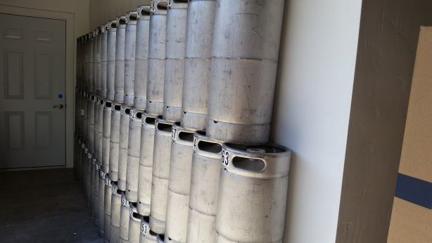 The kegs are just waiting to be filled.