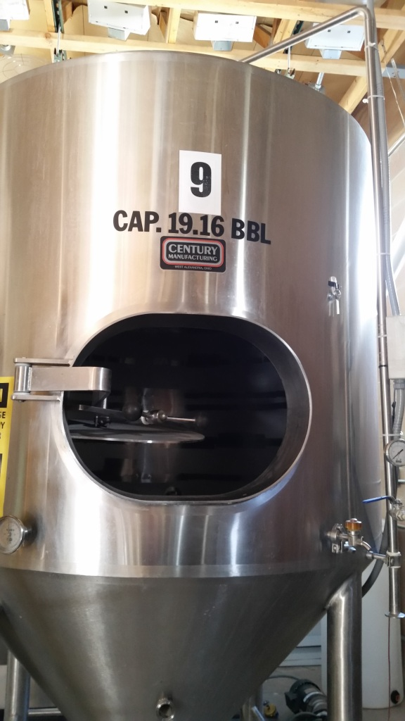 One of the three fermenters that will soon have beer inside.