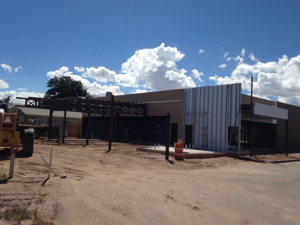 The exterior of Steel Bender is coming together.