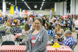 Shawna is understating her excitement at being at GABF in this photo.