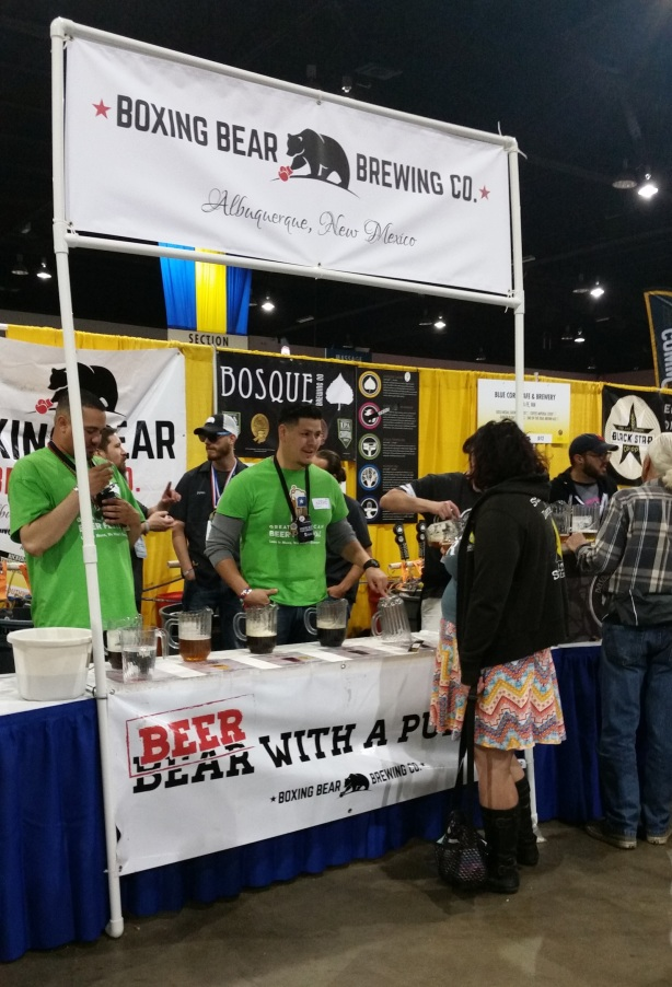 A rare moment where the line was not stacked up at Boxing Bear during the Saturday afternoon session of GABF.