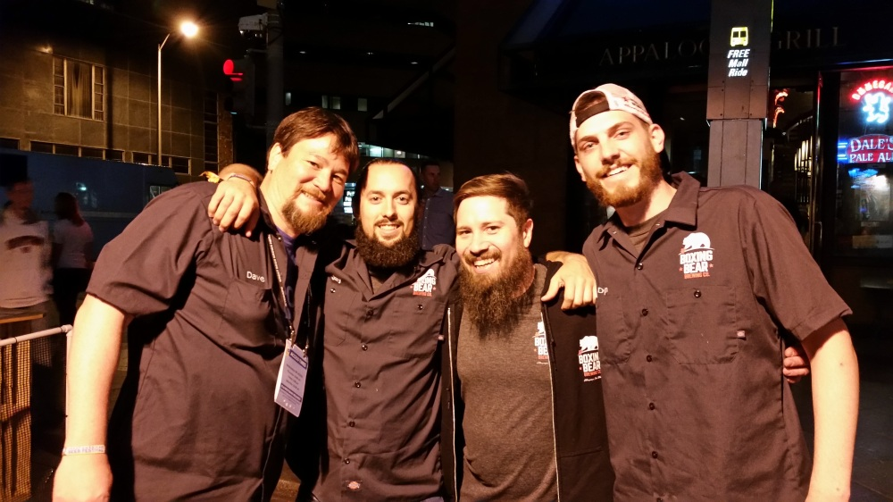 These were some seriously happy brewery staffers after they brought home a fairly major award.
