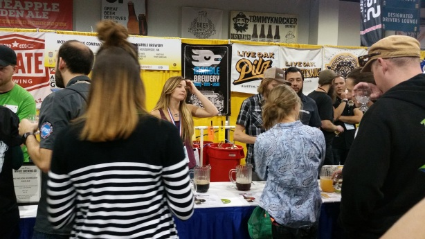 Brewess Anna Kornke and the Marble staff were kept plenty busy throughout GABF.