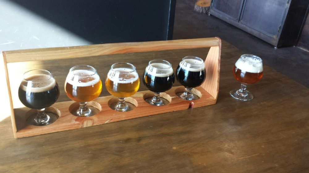 A seasonal flight and the Ghost Train IPA were well worth trying.