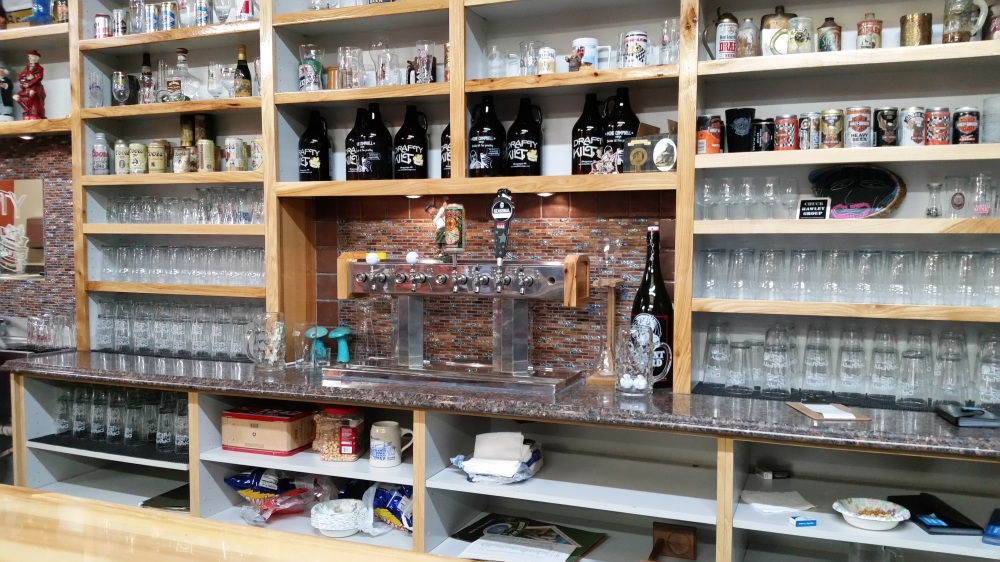 The bar area features two guest taps for now. Growlers are already for sale.