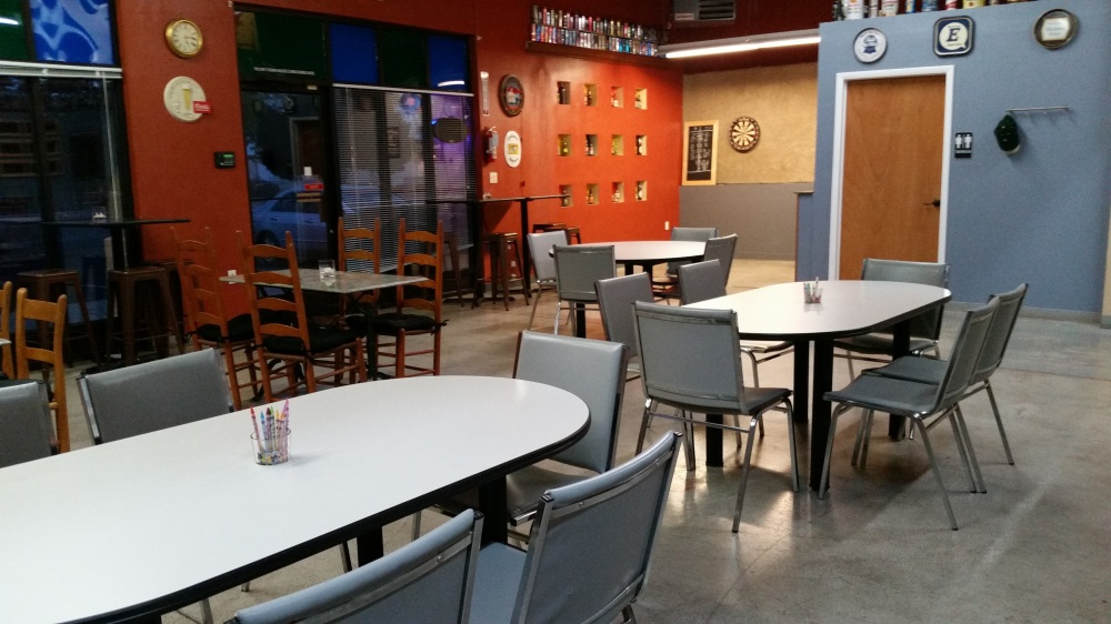 The Drafty Kilt interior is spacious and relaxing.