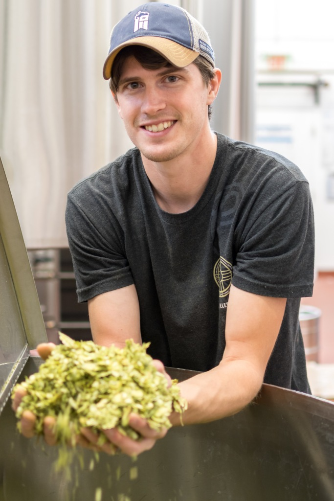 Head brewer Alan Skinner has been deep into the hops for almost a year now. (Photo by Mario Caldwell)