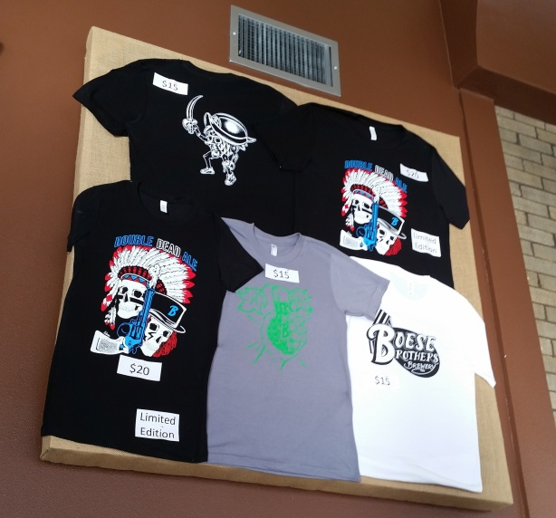 Get those Double Dead Ale shirts for a limited time.